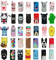 Case Cover For iPhone 5S 6 7 8 Plus XR XS MAX Cute 3D Cartoon Silicone Kids Skin