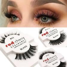 1Pair Lashes Soft False Human Hair Eyelashes Adhesives Glamour Fake Eye Lashes~