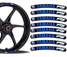 8 YAMAHA R1 WHEEL RIM VINYL STICKERS STRIPES MOTO CAR BIKE MOTORCYCLE TUNING R16
