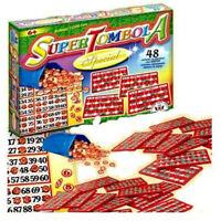 SUPER TOMBOLA SPECIAL 48 CARTELLE IN PLASTICA GIOCO DA TAVOLA NATALE