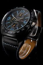 Jay Baxter Herrenuhr Index Blau Echt Lederband Armbanduhr PJB150