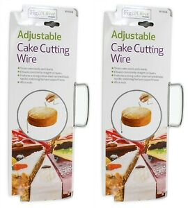 2x Cake Cutter Bread Wire Slicer Cutting Leveller Decorating Utensil Baking Tool