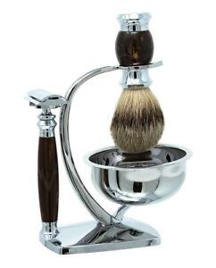 Van Der Hagen Russet Arch Platinum Shave Set