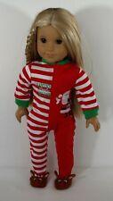 Santa Little Helper Pajama For 18 in American Girl or Logan Boy Doll Clothes