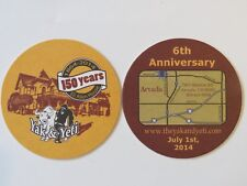 Beer Coaster: YAK & YETI Restaurant & Brewery ~ Eli Allen House Arvada, COLORADO