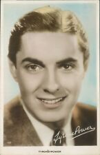 Postcard film Star Tyrone Power Real Photo unposted Tinted