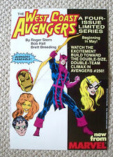 RARE 1984 Marvel Comics WEST COST AVENGERS 11x17 PROMO Poster  Limited Series NM
