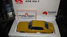 BIANTE  AUTOart  1.18 HOLDEN LJ TORANA GTR XU1 MUSTARD YELLOW  LTD ED #70182