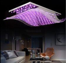 K9 Crystal LED Wave Chandelier Living Room Remote Control Lamp Pendant Lighting