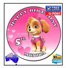 SKYE Paw partol edible image icing sheet birthday party cake topper