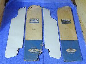 """1965 Ford Galaxie 500 XL Custom 500 25"""" X 5-3/4"""" White Sun Visors NOS"""