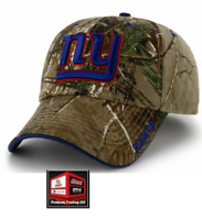 New, REALTREE NFL New York Giants Camouflage Camo Curved Bill Hat Cap Adjustable