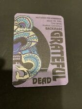 3/19 1990 GRATEFUL DEAD CIVIC CENTER HARTFORD CONNECTICUT BACK STAGE PASS