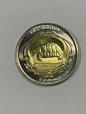 2019 Isla Tortuga (Turtle Island) $5 Dollars Fantasy Bi-Metal Coin-Sea Turtle
