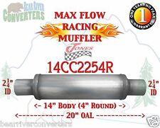 "Max Flow Muffler 14"" Round 2 1/4"" 2.25"" Pipe Center/Center 20"" OAL 14CC2254R"