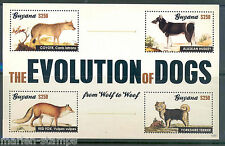 GUYANA NEW ISSUE THE EVOLUTION OF DOGS SHT  never before offered by us  MINT NH
