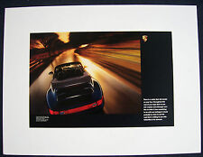 PORSCHE OFFICIAL 993 BLUE 911 CARRERA CAB SHOWROOM POSTER 1995 - 1998