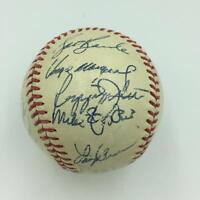 1972 Oakland A's Athletics World Series Champs Team Signed Baseball JSA COA