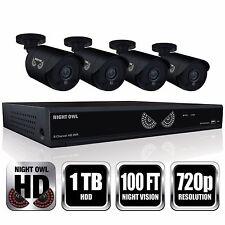 Night Owl 8 Channel 4 HD 720p N. Vision Cameras w/ 1TB HDD DVR Security System