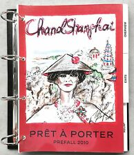 CHANEL PARIS SHANGAI PREFALL 2010 PRICELIST SKETCH BINDER CATALOG 224 PAGES