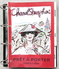 CHANEL PARIS SHANGAI PREFALL 2010 PRICELIST SKETCH BINDER CATALOG 224 PAGES