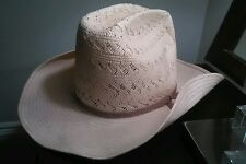 Lanning Western Cowboy Hat Straw Cream Colour Men's Size 7 1/8