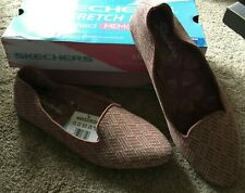 NIB Skechers Stretch Fit Memory Foam Loafers Shoes Slippers Size 9.5 Rose Color