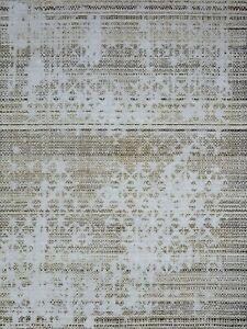 5'6 x 8' Rug   Handmade Dimak Dhurrie Brown Wool & Pet Area Rug