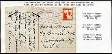 PALESTINE  POSTCARD JERUSALEM TO NEW JERSEY WITH INCORRECT DATED CANCELS
