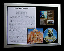 IRON MAIDEN 2 Minutes To Midnight QUALITY CD FRAMED DISPLAY+EXPRESS GLOBAL SHIP