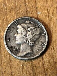 1927D Mercury Dime XF