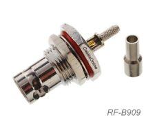 BNC Bulkhead female RF Connector for RG316/RG174/LMR100 Coax wire