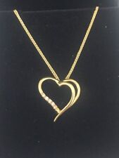 Valentine's Day Heart Gold Pendant Necklace 14k Yellow gold Love Gift Women