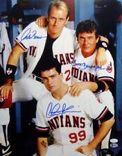 Sheen/Berenger/Bernsen Autographed Major League 16x20 Photo - JSA W/Beckett Auth