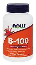 Now Foods B-100, Vitamin B-Complex, 100 capsules