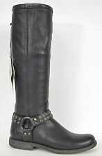FRYE BOOTS Phillip Studded Harness Black Soft Leather Boots 76506 SZ 6 $378