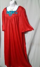 """Alix Paige Red Nightgown Long 1/2 Sleeve Lightweight Plus 4X 52"""" BUST Christmas"""