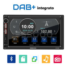 """7"""" 2 DIN Autoradio DAB+ RDS AM FM Stereo MP5 Lettore Bluetooth 2 USB SD AUX IN"""