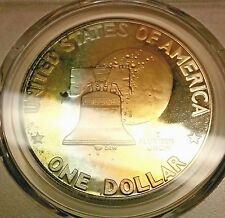 1976-S Eisenhower - Ike Dollar PR69 DCAM Silver PCGS Nicely Toned Pastel Colors