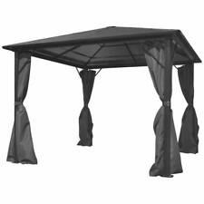 vidaXL Gazebo with Curtain Anthracite Aluminium 300x300cm Canopy Shelter Tent