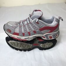 THE NORTH FACE Women's UK Size 7 Grey & Red Running Shoes Trainers Hiking