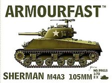 Armourfast 99015 1:72 WWII US Sherman M4 A3 105mm (2 Models)
