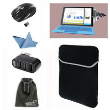 Carrying Case Sleeve Bag+3 USB Hub+2.4G Wireless Mouse for New Surface Pro 2017