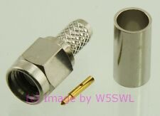 SMA Male Crimp Connector RG-58 LMR195  2-PACK - by W5SWL ®