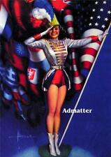 ROLF ARMSTRONG PATRIOTIC PIN-UP POSTER SEXY AMERICAN FLAG PHOTO PRINT ART!