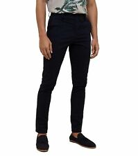 MENS BLACK SKINNY FIT CHINOS SMART CASUAL TROUSERS STRETCH JEANS PANTS ALL SIZES