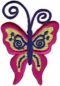 Hippie Psychédélique Papillon Broderie Patch