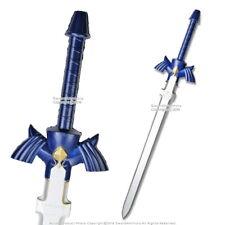 """42"""" Fantasy Zelda Master Foam Sword Blue Winged Guard Handle Foam LARP Cosplay"""