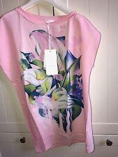 FUN & FUN MAXI-shirt Tunica/140/10 anni rosa nuovo