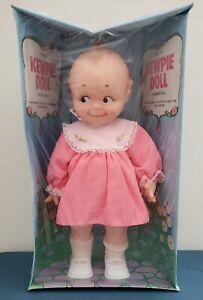 Vintage 1974 Kewpie A Cameo Girl Doll Vinyl New In Box Pink Dress Cute